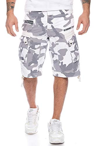 Geographical Norway Herren Cargo Short People (M, White Camo)