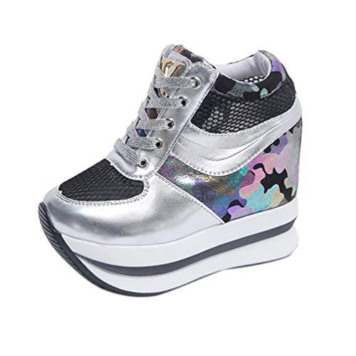 Schuhe, Resplend 2018 Neu Frauen Höhe Zunehmende Freizeitschuhe Platform Loafer Einzelschuhe Schnürschuhe