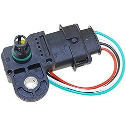 73503657 0281002845 Boost MAP Sensor - SINOCMP Boost MAP Sensor for Opel Vauxhall Astra G H Signum Vectra C Zafira 1.3 1.9 Cdti Plug Connector
