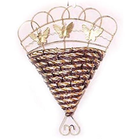 QHGstore Decorazione parete Hanging Fiori Piante Basket Fiori Artificiali impiccagioni Basket rosso porpora