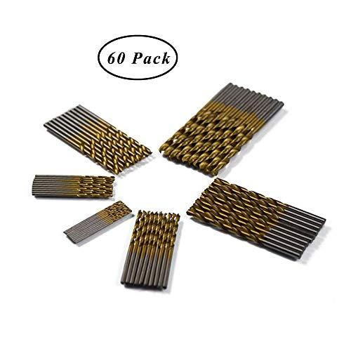 SUNSHINETEK 60 piezas Brocas HSS Micro Broca 1/1.5/2