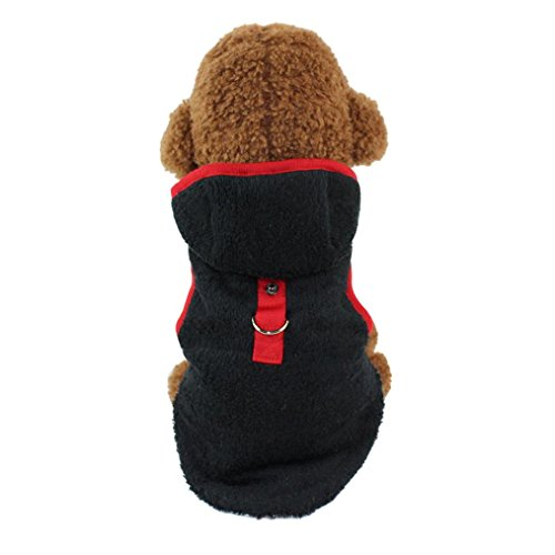 Hundekleidung Hundemantel Warm Wintermantel Haustier Mantel Hund Kleider Jacke Hund Welpen Kleidung Weste für Herbst Winter (L, Schwarz)