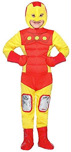 NEVAL HERO OF IRON BABY für KARNAVALKOSTÜME fancy dress halloween cosplay veneziano party 28018 Size 5 (Iron Man Baby Kostüme)