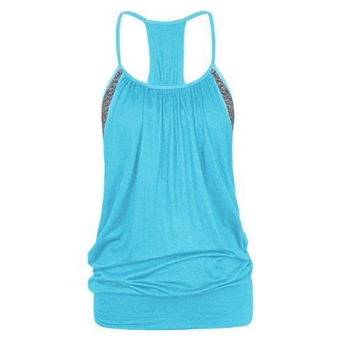 Zhhlaixing Sexy Women Unique design Gym mozione Shirt Yoga Top Sleeveless Vest YBN