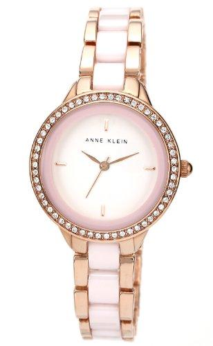 Anne Klein AK/1418RGLP - Orologio da polso, donna, ceramica, colore: rosa