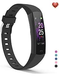 YoYoFit Fitness Tracker, Uhr mit GPS Schrittzähler Pulsuhren Herzfrequenz Activitiy Armband mit Pulsmesser Schlafmessung Erinnerungsfunktion Kalorien für Damen Herren