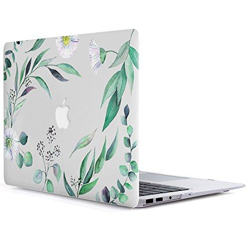MacBook Air 13 Hülle A1369/A1466 - L2W 2 in 1 Blumen Serie Muster Kunststoff Hard Shell Hülle Für MacBook Air 13 - Blumen 24 (Durch Iphone 6 Flower Sehen Case)