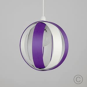 Modern Fabric Cocoon Globe Style Ceiling Pendant Light Shade from MiniSun