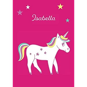 Isabella: Einhorn Malbuch / Tagebuch / Notizbuch - DIN A4 - blanko