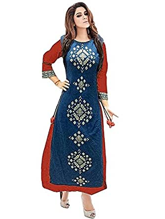 Sitaram Creations Women's Silk Dress Material (twenty red_Free Size_Red)