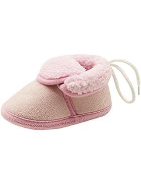 Trada Kleinkind Neugeborene Baby Stiefel Gurte Solide Weiche Sohle Schneeschuhe Baumwollschuhe Prewalker Winter...