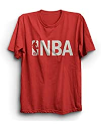 Crazy Fashion Shop Mens' Round Neck T-Shirt NBA-Basketball-hs-red