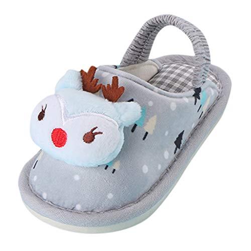 Jaysis Cartoon Kaninchen Pantoffeln Warme Hausschuhe Bequeme Schuhe Slipper Baby Jungen Weiche Sohle Krippe Erster Wanderer Schuhe rutschfest (Keine Kostüm Disney World)
