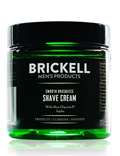 Brickell Men's Products Glatte Brushless Shave Creme - Natur- und Bio (Duftend, 5 Ounce)