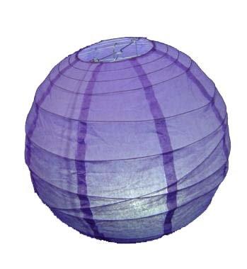 Lampenschirm, Kugelform, Reispapier, hängend, 20cm, Violett -