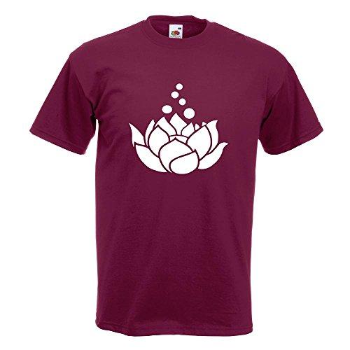 KIWISTAR - Lotosblumen - Lotusblüte T-Shirt in 15 verschiedenen Farben - Herren Funshirt bedruckt Design Sprüche Spruch Motive Oberteil Baumwolle Print Größe S M L XL XXL Burgund