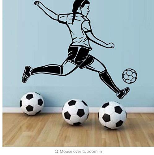 (Zxfcczxf Leidenschaft Spieler FußballHohe Wasserdichte Tapete Wandbild Fußball Spieler Wandaufkleber Für Mädchen Schlafzimmer Wände Dekor56 * 66 Cm)