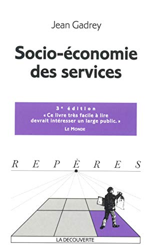 Socio-économie des services par Jean Gadrey