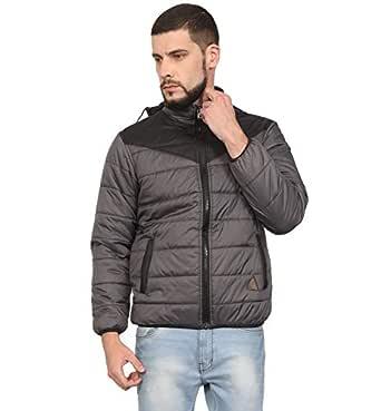 VERSATYL Men's Light Weight Quilted Winter Jacket (Grey, Size XXXL)
