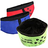 "8"" Fold Up Travel Dog Water Drinking Bowl"