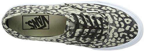 Vans U Authentic Slim Ombre, Baskets mode mixte adulte Noir (Leopard/Black)
