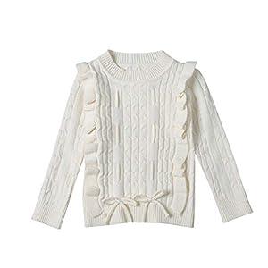 K-Youth Ropa de Punto Niña Casual Caliente Camiseta Manga Larga Niños Suéter Niña Jersey para Niñas Blusa de Punto Niño… 6