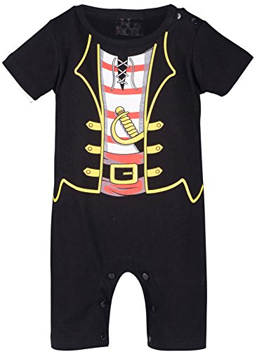 Mombebe Baby Jungen Piraten Kostüm Strampler (6-12 Monate / 80 UK, Piraten) (Halloween-kostüme Lustige Uk Herren)