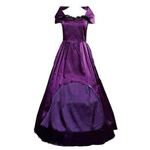 Viktorianischen Kostüm Lady Adult - coskey The Greatest Showman The Bearded Lady Kostüm Kleid mit Petticoat Lettie Lutz Kostüm viktorianisches lila Kleid - - Large