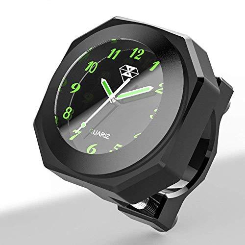 Moto Manubrio Luminoso Montaggio Orologio Orologio Cool styling orologio impermeabile decorazione Cool Styling Nottilucent Watch per il kit di rimontaggio per motocross per bici dirt bike (negro)