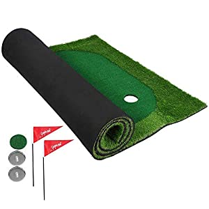 Alomejor 9,84 * 4,92 ft Indoor Mini Tragbare Künstliche Green Home Golf Putting Golf Trainingsmatte