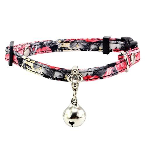 Carry stone Premium Qualität einstellbar Mini Hund Katze Kragen, Bell Glitter Strass Halsband Halskette Pet Supplies 3 S -