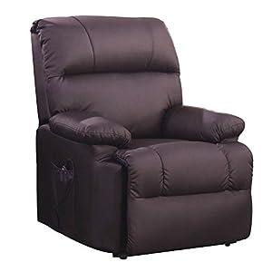 SVITA Massagesessel mit Wärmefunktion und elektrischer Aufstehhilfe – Fernsehsessel Relaxsessel Massagestuhl TV-Sessel – Kunstleder Farbwahl