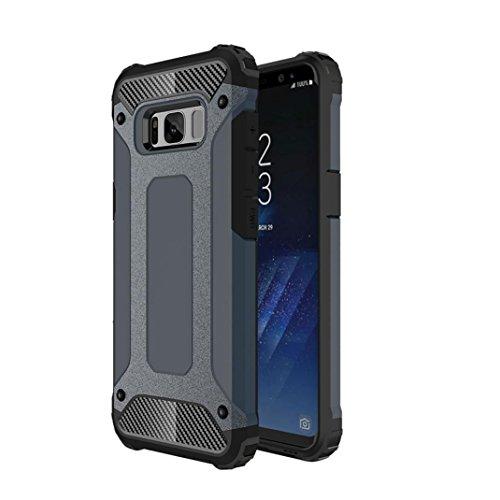 MuSheng For Samsung Galaxy S8 Plus Hülle Case,Luxus Hard Clear PC & Flexible TPU Rahmen Hybrid Galaxy S9 Hülle [Slim Fit] [Stoßdämpfung] [Anti Scratch] Für Samsung Galaxy S8 Plus (Marine) Plus Marine