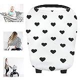 Multi Bio Baumwolle Still Baby Auto Set Cover Himmel Warenkorb Bezug Swaddle Decke für Säuglinge Neugeborene Kleinkinder Dusche Geschenk