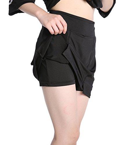 EAST HONG Women's Pocket Sports Skort Athletic Performance Skort Tennis Skirt with Inner Shorts