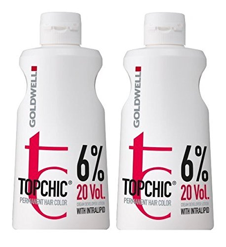 Goldwell Topchic 6% Lotion 2 x 1000 ml Cream Developer Permanent Hair Color GW -