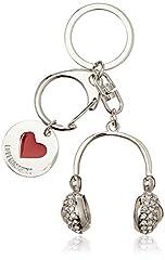 Idea Regalo - Love Moschino Portachiavi Metallo Nikel - ad anello e catena Donna, Argento (Nickel), 1x1x1 cm (B x H T)