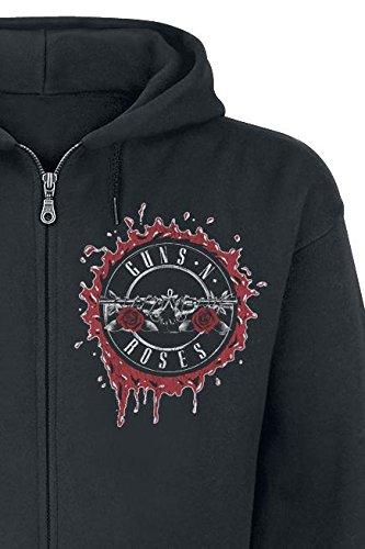 Guns N' Roses Suicide Skull Sweat à capuche zippé noir Noir