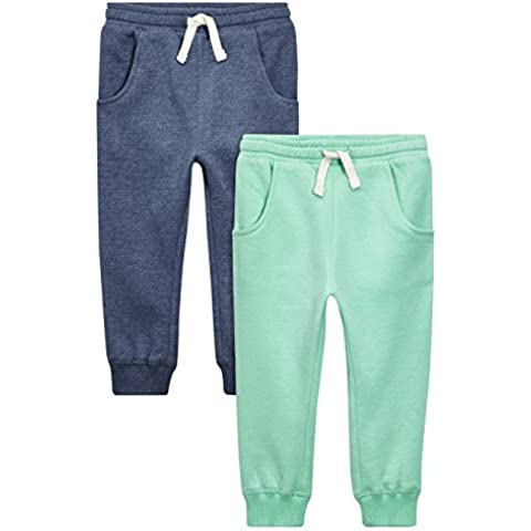 next Niñas Infantes Paquete De 2 Pantalones De Chándal Joggers Azules Marino Verde (3 Meses-6