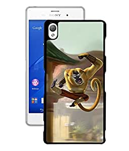 Crazymonk Premium Digital Printed 3D Back Cover For Sony Xperia Z3