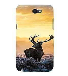 PrintVisa Animal Deer Design 3D Hard Polycarbonate Designer Back Case Cover for Samsung Galaxy Note 2