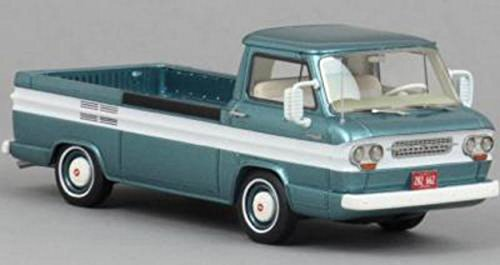 NEO SCALE MODELS NEO46526 CHEVROLET CORVAIR PICK UP METALLIC TURQUOIS/WHITE 1:43