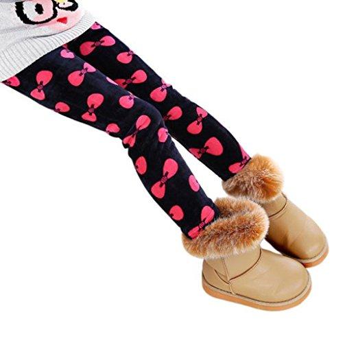 FEITONG Winter Mädchen Gamaschen starke warme elastische Taillen Kleidungs Hosen (6-7Y, Rot) (Baby-mädchen Baby Phat)