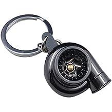 Llavero de turbocompresor - TOOGOO(R)Llavero de turbocompresor de manga de cojinete de girar de oro de modelos de partes de coche de color negro