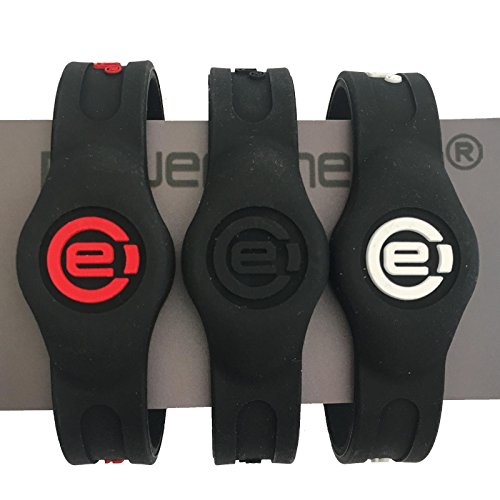 Power Energie Magnet Therapie Sport Armband, Black Black, Medium 19.0cm