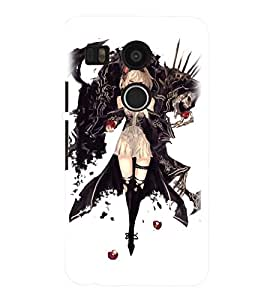 Printvisa Witchish Girl Pick Back Case Cover for LG Google Nexus 5X::LG Google Nexus 5X (2nd Gen)