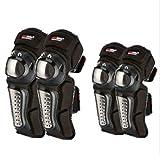 FELICIOO Protezioni per Ginocchiere e Ginocchiere da Esterno Protezioni da Caduta Anti-Caduta Protezioni da Ciclismo Motocross Protezione Guardie Armature Set per Ciclismo Pattinaggio Sci Riding-4pcs