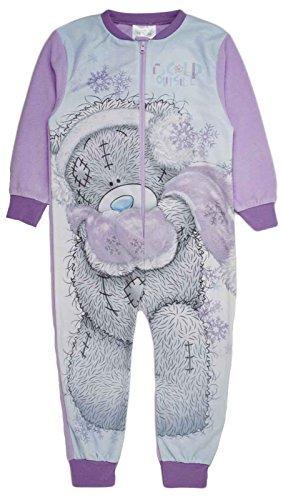 Girls Fleece Character Onesie Pyjamas Childrens All In One Pj's Size UK 1-8 Years