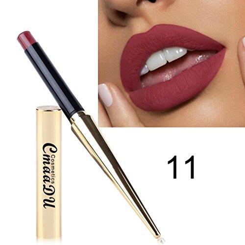 12 Farben Lippenstift Huihong Damen Wasserdicht Matt Kürbis Farbe Essen Erde Reich Vitamin E Neue Mode Lippenstift Lipgloss (11)