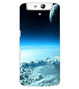 ColourCraft Sky Look Design Back Case Cover for OPPO N1
